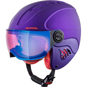Alpina Carat LE Visor HM Helm Kinderen, royal-purple matt